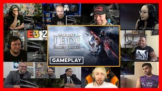 Star Wars Jedi - Fallen Order Official Gameplay Demo – EA PLAY 2019 REACTION MASHUP