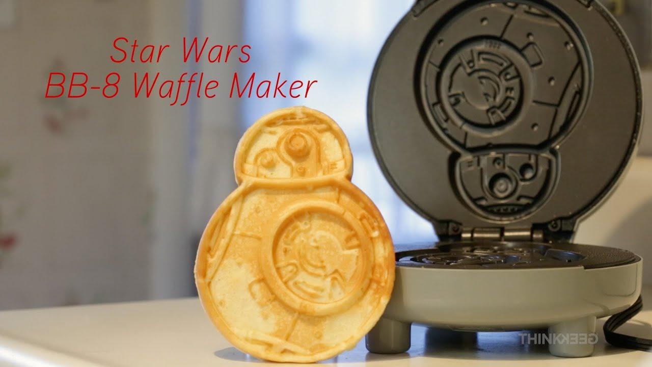 star wars bb 8 waffle maker from thinkgeek youtube. Black Bedroom Furniture Sets. Home Design Ideas