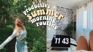 productive summer morning routine 2020