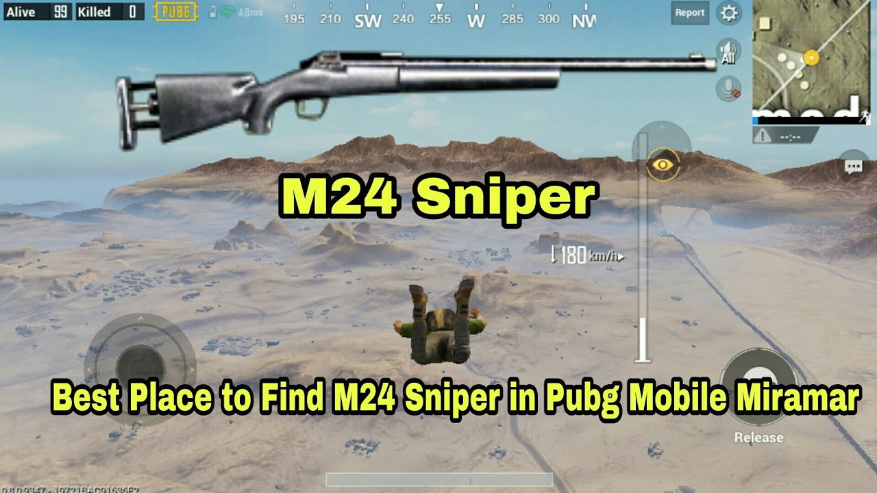 PUBG Mobile Best place to find M24 Sniper in Miramar (40 to