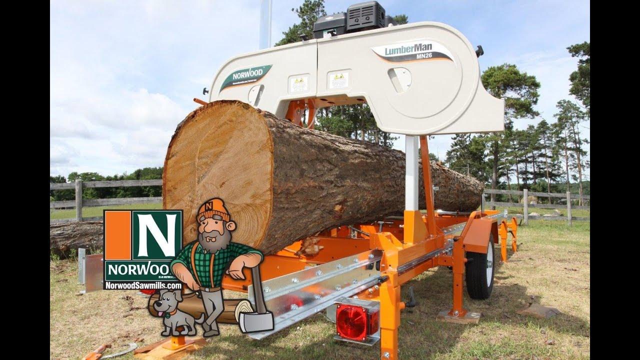 Norwood LumberMan MN26 Portable Band Sawmill – The Most Versatile ...