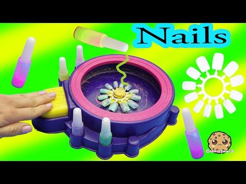 Part 2 Make Your Own Custom Nails With Glitter Nail Swirl Art Kit Maker  - Cookieswirlc Video