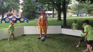 Ronald McDonald plays Gaga Ball at the Michigan State Capitol