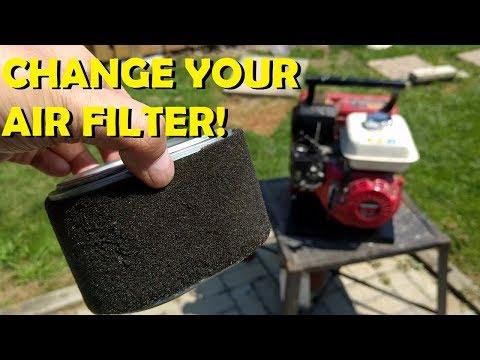 Honda GX200 - Carb Clean & Air Filter