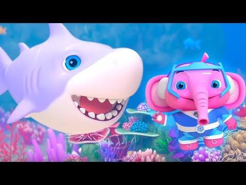 Baby Shark Doo Doo Doo Doo | Little Tritans | Nursery Rhymes & Baby Songs by Little Treehouse