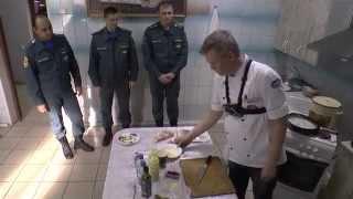 """готовим """"Спагетти карбонара с беконом и сливками"""" по итальянски в пожарной части 128"""