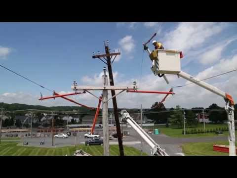 How we change out an electric utility pole - YouTube