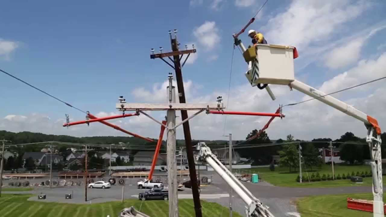 How we change out an electric utility pole