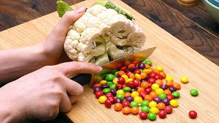 Vegetables VS Sweets | Funny Stop Motion Cooking