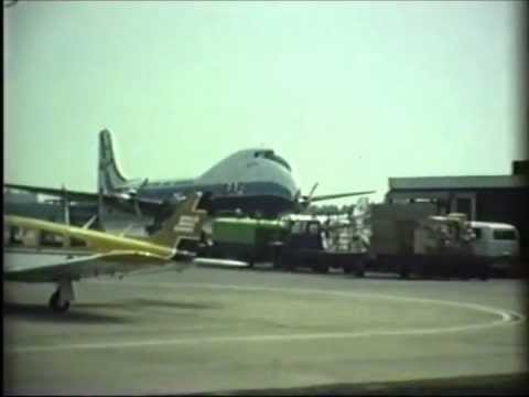Aviation Traders Carvair arriving at Zestienhoven (Rotterdam airport) Netherlands...wmv