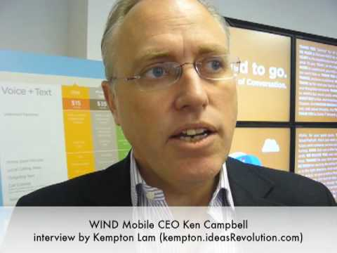 WIND Mobile Calgary Launch - CEO Ken Campbell interview