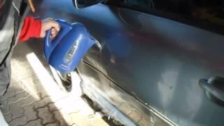 Oprava promáčklého plechu na autě