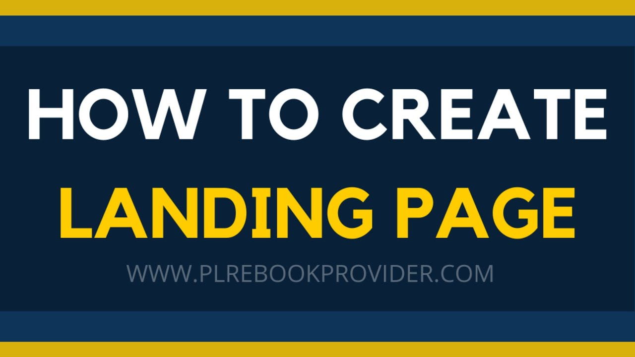 How to create a LANDING PAGE to collect EMAILS or to SELL any products - PLR eBook Provider