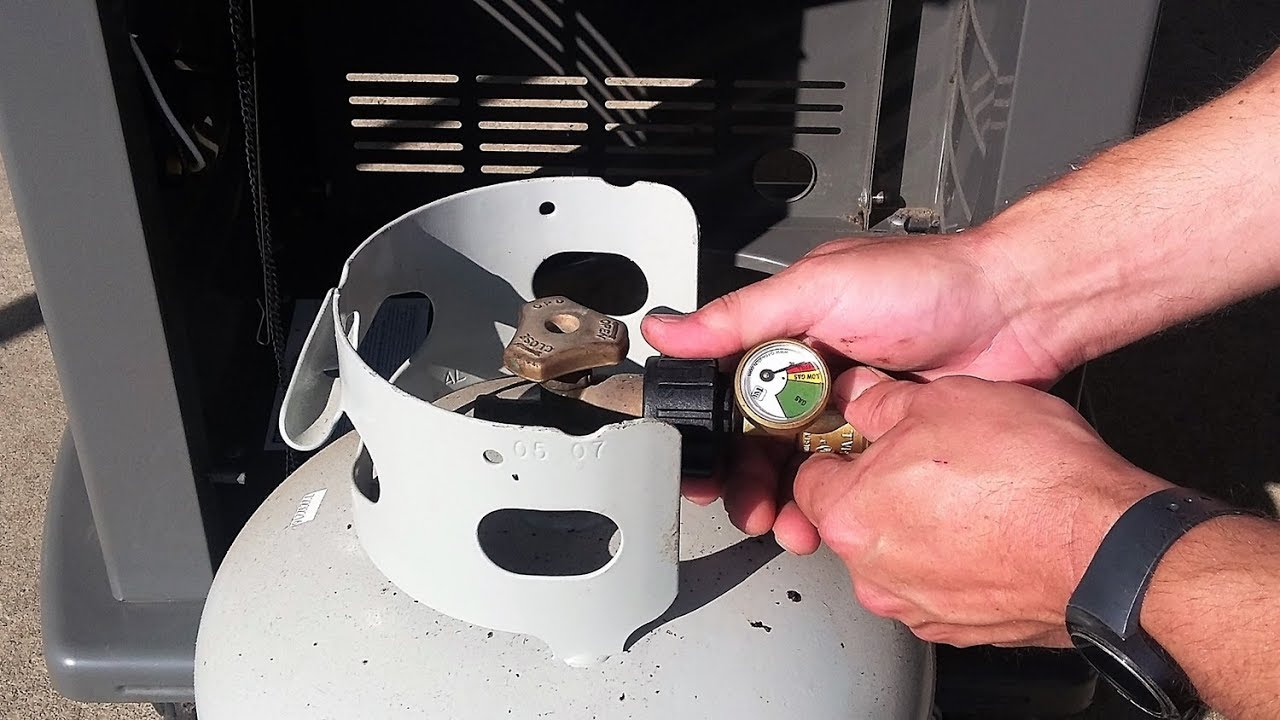 How to install a propane tank pressure gauge on a gas grill