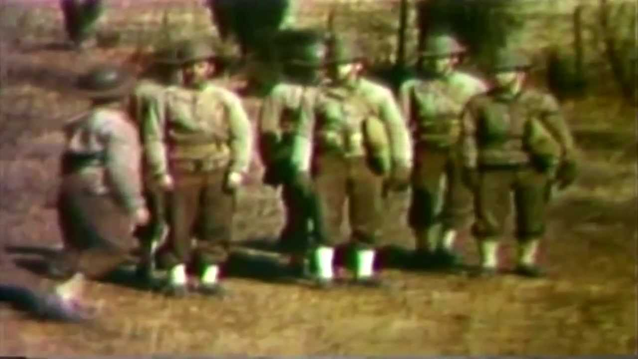 """WWII Army Film : """"Camouflage Set For Divisional Artillery""""  1941"""