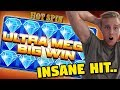 HUGE WIN!! Hot Spin BIG WIN - 6 euro bet (Online slots) from Casino LIVE stream