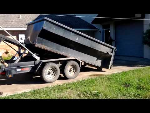 12 yard dumpster delivery in Plano Texas Only $250 www.JunkGuysDfw.com