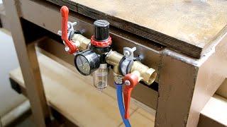 Тестирование пневматического пресса / Testing a pneumatic press