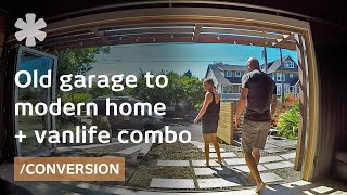 Couple makes garage home + campervan a consistent life combo thumbnail