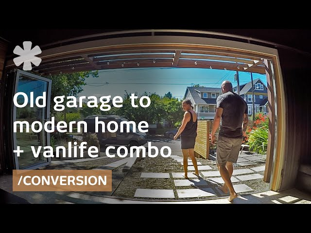 Couple makes garage home + campervan a consistent life combo