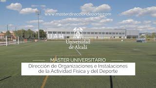 Máster en Dirección de Organizaciones e Instalaciones de Actividad Física y Deporte