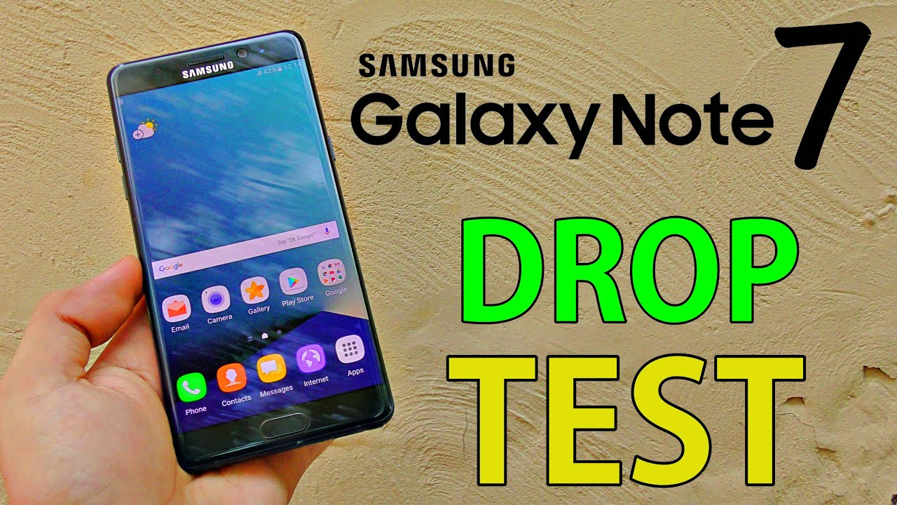 Samsung Galaxy Note 7 Drop Test! (4K)