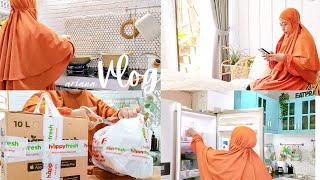 #dailyvlog Pagi Yang Sibuk Dengan Berbagai Rutinitas/ Belanja Aman Dari Rumah Aja/ Masak Menu Simple