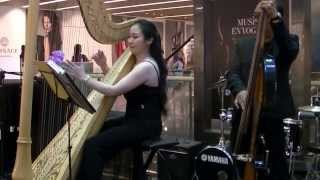 Harp Music: You Needed Me (Anne Murray) by Junedy Lim @ Paragon Music En Vogue 09 Sep 13