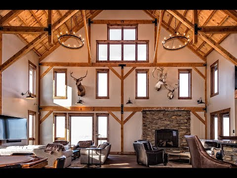 Post and Beam Lodge in South Dakota