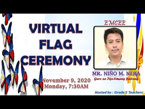 SITIO TAPAYAN ES Virtual Flag Ceremony - November 9, 2020