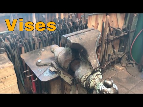 Vises for the blacksmith shop - tool of the day
