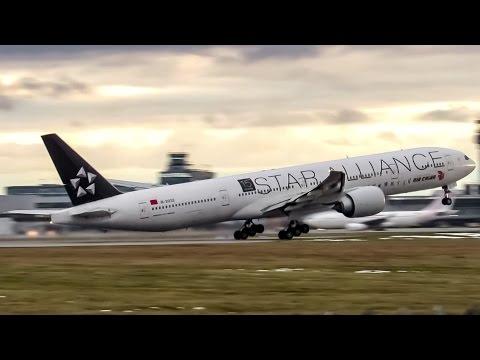 "Air China ""Star Alliance"" 777-300ER (B77W) departing Montreal (YUL/CYUL)"