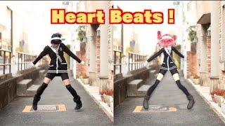 """""""Heart Beats"""" Dance with VOCALOID [あぷりこっと* & 重音テト][MMD 踊ってみた] (Girl"""