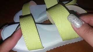 FABERLIC. Босоножки для девочек/лимонный цвет.