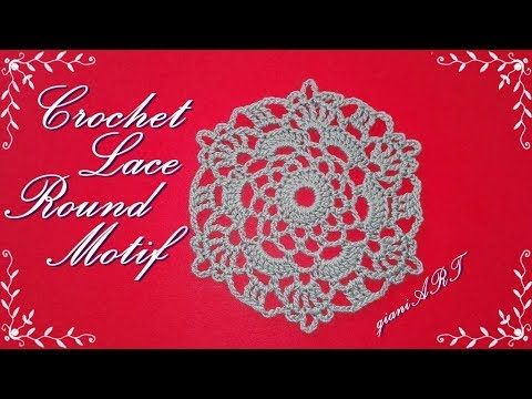 Easy to Crochet Lace Round Motif