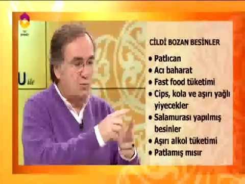 Profdribrahim Saraçoğlu Cildi Bozan Besinleri Anlatiyor Youtube