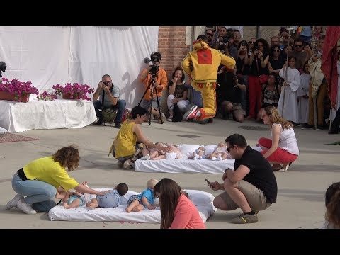 A.D. - Check Out Spain's bizarre Baby Jumping Festival