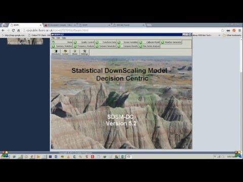 Statistical DownScaling Model (SDSM) Tutorial