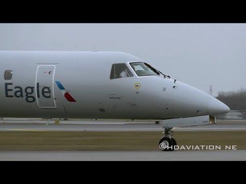 American Eagle ERJ-145 Takeoff KBUF-Buffalo/Niagra International Airport