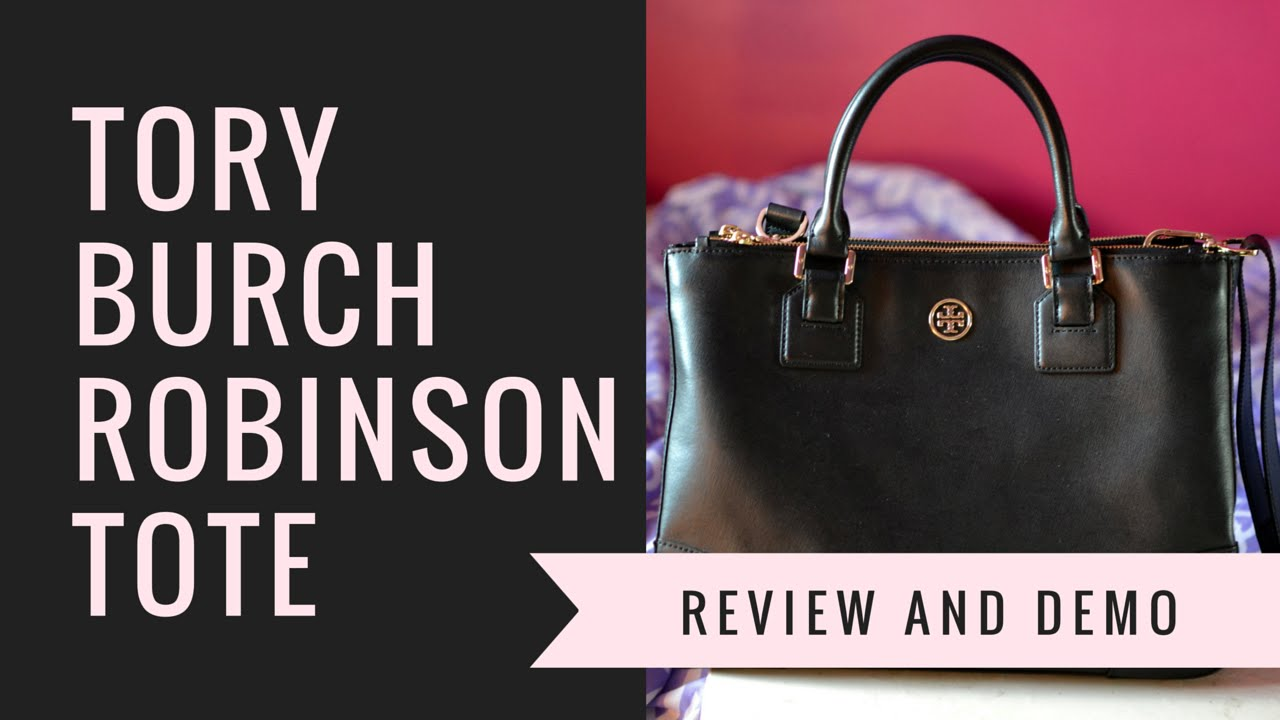 6338c3e8ca3 Tory Burch Robinson Double Zip Tote Review + Demo (Outlet Store) - YouTube