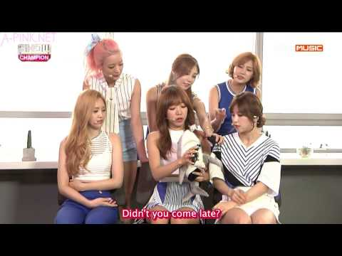 [APINKSUBS][150722] MBC Music Show Champion Interview - A Pink