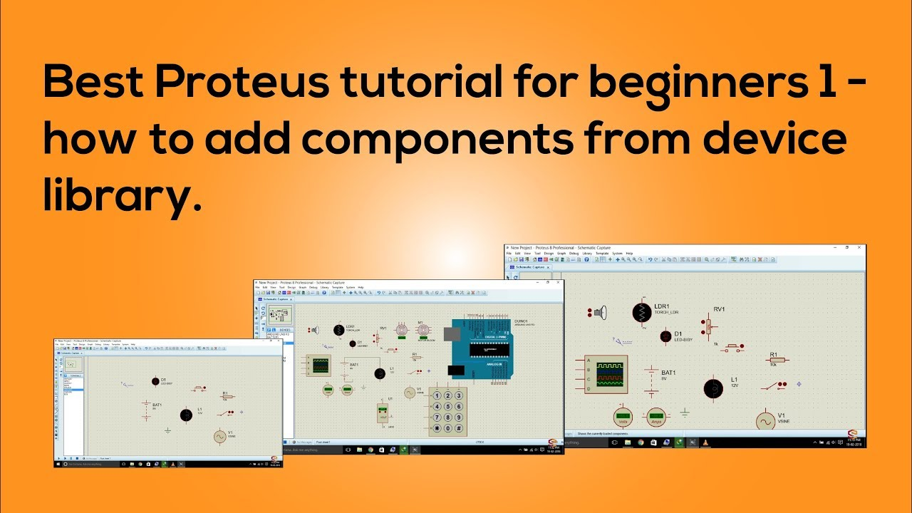 Proteus for beginners tutorial 1 add components from device ...