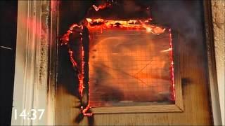 Lorient comparative, indicative fire door test.