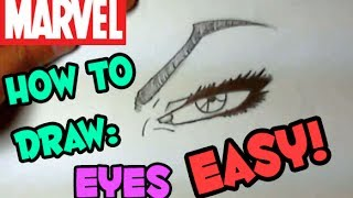 How to draw: marvel style eyes (the easy way)