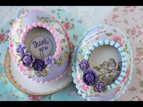 How to Make 3-D Decoupaged Cookie Eggs