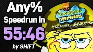 SpongeBob SquarePants: Battle for Bikini Bottom Any% Speedrun in 55:46 (WR on 8/8/2018)