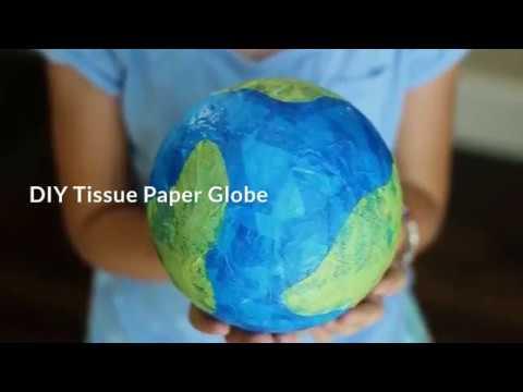 DIY Tissue Paper Globe 1