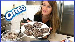 MAKING CHEWY COOKIES N CREAM BARS!