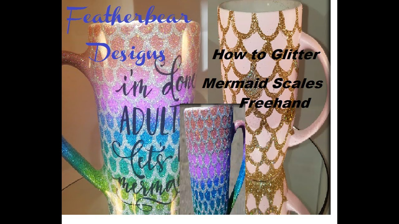 How To Glitter Mermaid Scales Freehand
