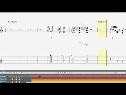 レッドブーツ Wired Jeff Beck  無料TAB楽譜 & Guitar TABガイド付き ギターカラオケ